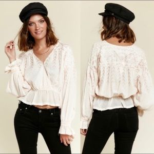 Free People Counting Stars Blouse Size Medium